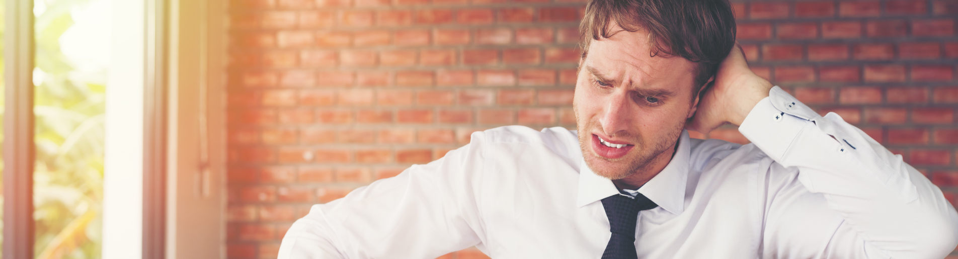 Human Error accounts for many mistakes - a man looks flustered